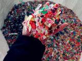 La plastica della bottiglia dell'animale domestico ricicla la riga di lavaggio