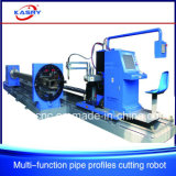 Линия автомат для резки специальной форменный трубы пробивая и пересекая