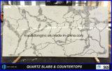 台所カウンタートップの浴室の上のテーブルの上棒上の固体表面の建築材料のためのCalacattaの水晶平板