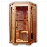 Sauna à vapeur au bois avec panneau de contrôle de sauna infrarouge