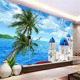 Murales tropicales de encargo de la pared del papel de empapelar del paisaje de la playa del precio de fábrica