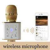 Mini giocatore Bluetooth di karaoke dell'altoparlante di qualità del microfono doppio di effetto sano