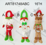 """10 """" H que colocan la decoración Gift-2asst de la Navidad del muñeco de nieve de Santa"""