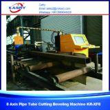Taglio numerico ad alta velocità del tubo del tubo del plasma di CNC di controllo di 8 assi e fornitore professionista di smussatura Kr-Xf8 della macchina