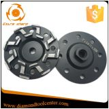 5 roue de meulage concrète de cuvette de diamant de segment de pouce S de pouce 7