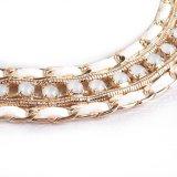 De melkachtige Juwelen van de Halsband van de Steen van de Diamant Fluweel Gevlechte (XJW1596)