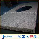 Panneau en aluminium de nid d'abeilles de granit en pierre pour des partie supérieure du comptoir de cuisine