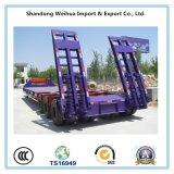 3 Axles Lowbed трейлер Semi поставщика Китая