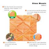 El arte junta las piezas del azulejo de mosaico rojo del vidrio manchado para la cocina Backsplash