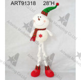 """"""" decorazione del pupazzo di neve di natale del corpo della sfera del filato di H 18"""