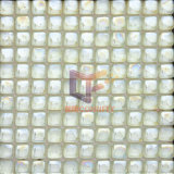 Round Iridescent White Glass Crystal Mosaic Tiles (CFR617)