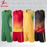 Комплекты форм трикотажных изделий баскетбола самого последнего пробела сублимации изготовленный на заказ самые лучшие