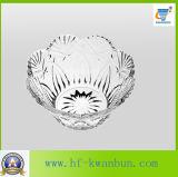 Vajilla presionado de alta calidad del tazón de fuente del caramelo de la fruta del tazón de fuente de cristal