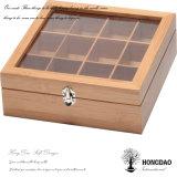 Caja de embalaje de madera de Hongdao con Cover_D de cristal