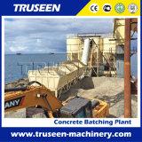 Tipo máquina de procesamiento por lotes por lotes concreta de la correa de la construcción de una fábrica para la venta