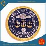 Sfida dell'OEM 3D/moneta militare/commemorativa del blu marino di /Souvenir/Award