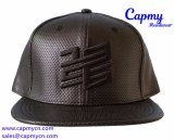 Польностью кожаный шлем крышки Snapback с логосом вышивки 3D