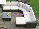 Sofá secional do sofá de vime ao ar livre da mobília do pátio do Rattan do quintal Hz-Bt35 ajustado - mar azul