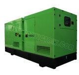 Ce/CIQ/Soncap/ISOの承認のパーキンズエンジン2206c-E13tag2を搭載する350kVA極度の無声ディーゼル発電機