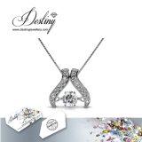 Het Kristal van de Juwelen van het lot van Nieuwe Dansende Tegenhanger Swarovski & Halsband