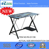 Kundenspezifisches Simple Tempered Glass Table mit Steel Frame