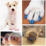 Casquillo de goma suave de la garra de la preparación del clavo de los gatos del gatito colorido de los perros