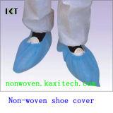 Tampa médica antiderrapagem descartável Kxt-Sc15 da sapata do Nonwoven PP/PE/CPE