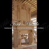 Mensola del camino di pietra di marmo esterna Mfp-182 dell'oro del deserto del granito