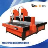 Huso doble, madera, acrílico, piedra, aluminio, máquina del ranurador del CNC