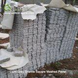 テラスのペーバーのための軽い花こう岩の花こう岩のSqaureによって一致させる玉石の敷石