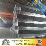 Galvanización Square Section Steel Pipe para Scaffolding Used