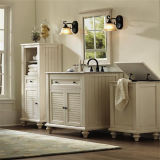 Vanidad al por mayor del cuarto de baño de madera sólida con el espejo