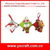 Décoration d'arbre de Noël de décoration de feutre de décoration de véhicule de Noël de la décoration de Noël (ZY14Y481-1-2-3 16CM)