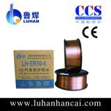 Alambre de cobre ER70S-6 menos salpicaduras no humo y buena soldadura de costura