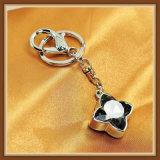 Il nuovo vetro del fiore di disegno lapida la catena chiave dei monili di modo