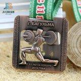 Conteggio olimpico della medaglia di Powerlifting del metallo d'ottone Custom Designed