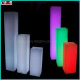 LED iluminado Cylinde cuadrado con la iluminación para los partidos de bodas de los acontecimientos