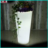 Los crisoles al aire libre del plantador del LED invirtieron los crisoles de flor trapezoidales