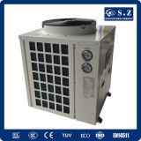 Calefacción All Day 30deg c para el ventilador superior partido de la pompa de calor de la piscina del termóstato del agua 12kw/19kw/35kw/70kw Cop4.62 del contador 25~240cube