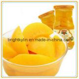 O melhor pêssegos amarelos enlatados do alimento do produto exportador