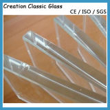 3mm/4mm/5mm/6mm/8mm/10mm/12mm/15mm/19mm Sicherheits-flaches/gebogenes ausgeglichenes Glas für Gebäude und Möbel