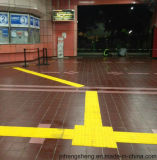 Gleitschutz-PVC/TPU Fußboden, der Tastfliese pflastert