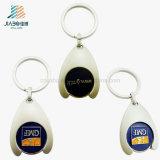 Fördernde Geschenk-China kundenspezifische Firmenzeichen-Laufkatze-Scheinmünze mit Keychain