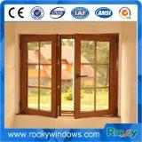 Disegno di legno di colore del grano con il PVC Windows di prezzi ragionevoli