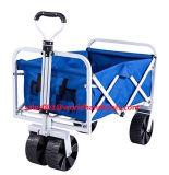 Vermelho de serviço público de dobramento do vagão da compra da praia do carro de jardim do vagão, azul