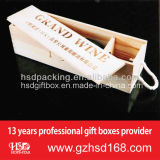 Hand personalizado Carved Wooden Wine Boxes para Gift Box