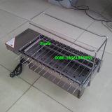 Machine électrique de gril de gril de machine de charbon de bois rotatoire automatique de gaz