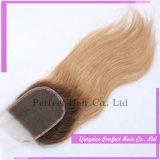 Chiusure frontali dei capelli della chiusura posteriore riccia brasiliana dei capelli (5*5)