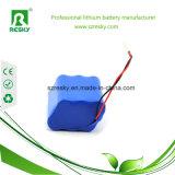bateria de lítio recarregável de 7.4V 6600mAh para a luz da bicicleta do diodo emissor de luz