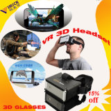 Plastica 3D Video Viewer su Smartphone Vr Headset 3D Glasses